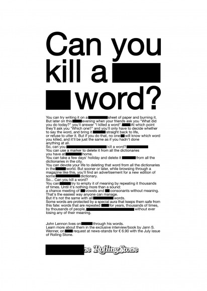 CAN YOU KILL A WORD