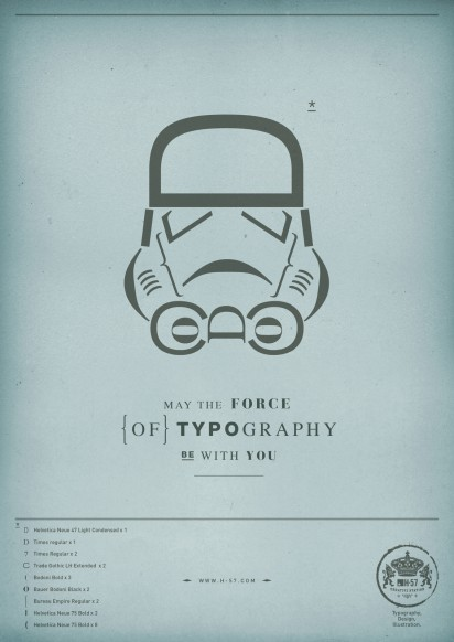 The force of Typography381 412x582 H 57 Creative S