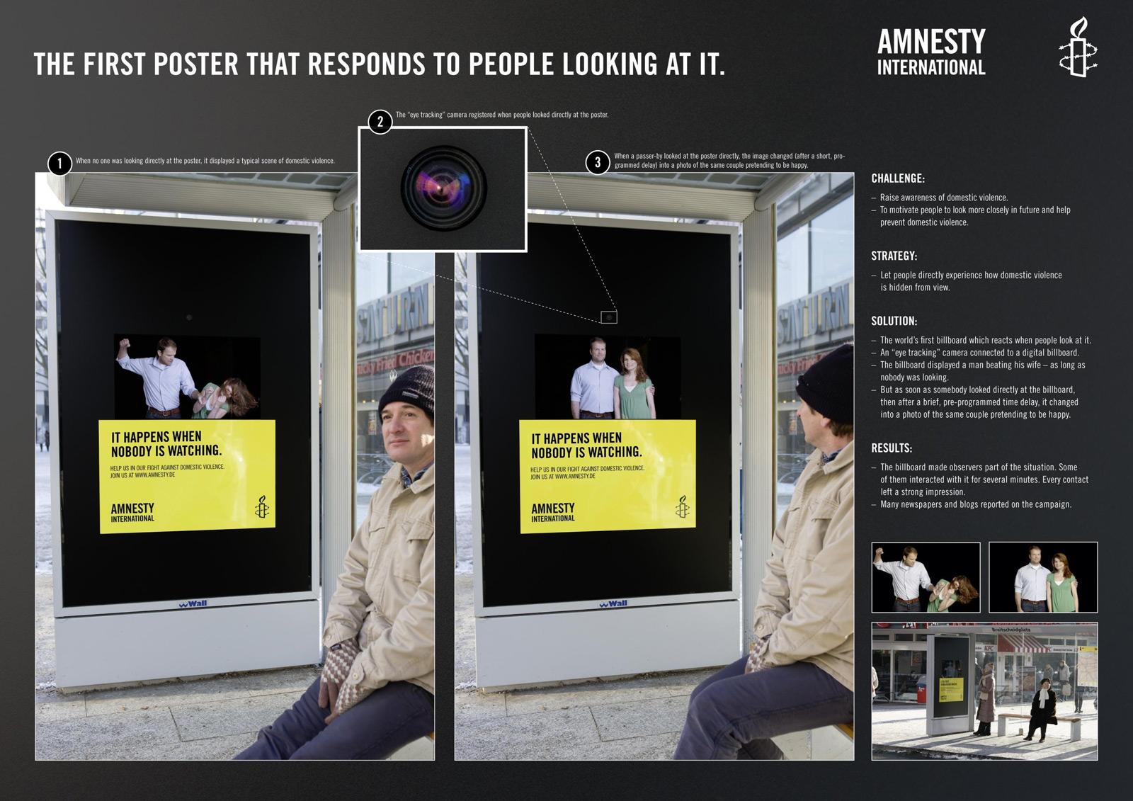 Bien connu Amnesty International – La première affiche « Eye Tracking  NM23