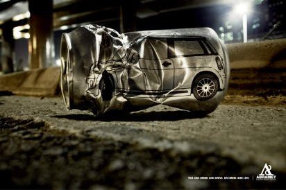 You can drink and drive. Or drink and live.
