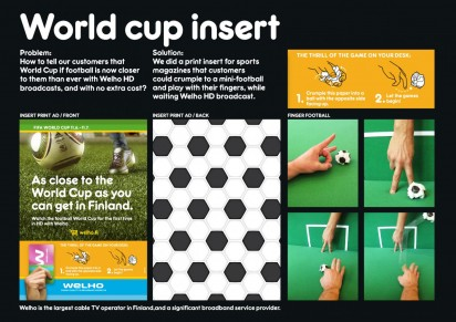 welho internet services world cup insert