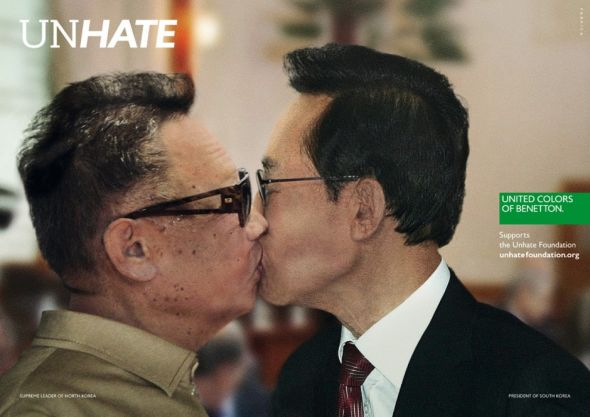 http://www.ibelieveinadv.com/wp-content/uploads/2011/11/Benetton_Unhate_North_Korea_South_Korea_ibelieveinadv.jpg