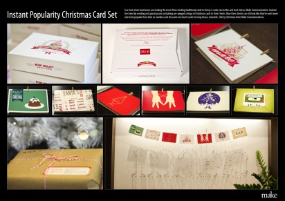 instant popularity xmas card set