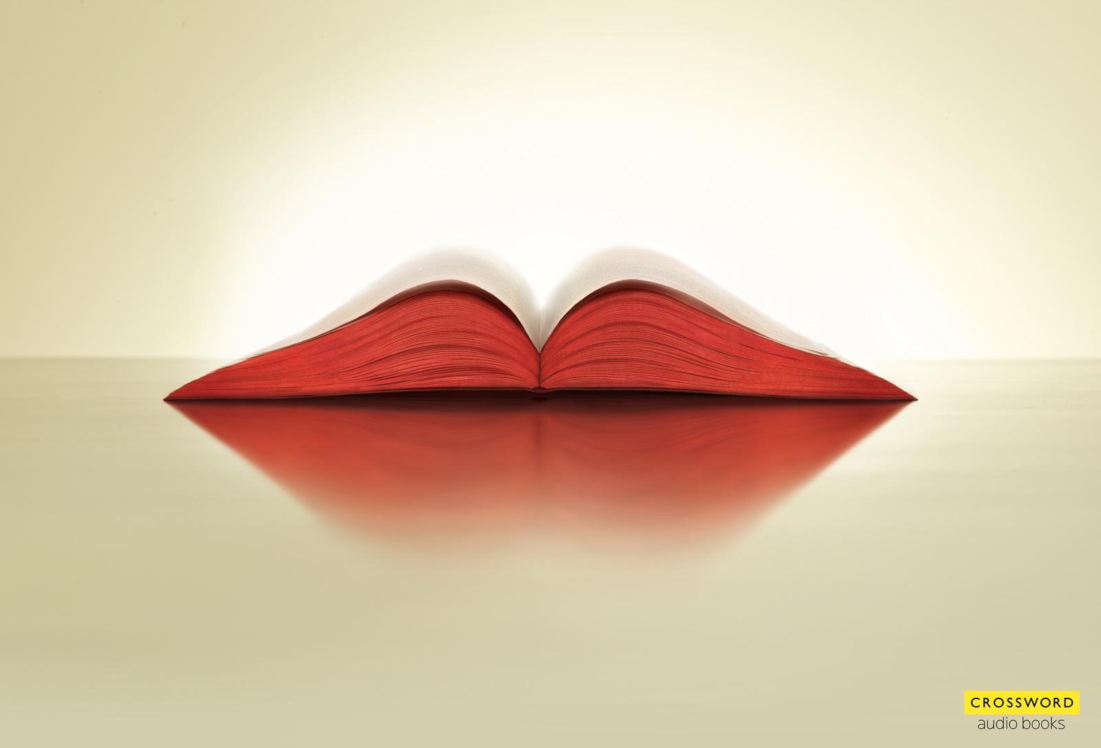 crossword audio books print ad   lips ads pinterest
