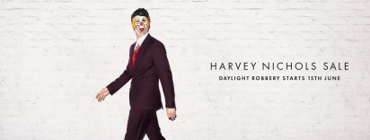 harvey nichols summer sale   1 of 3   clown   ddb uk   london