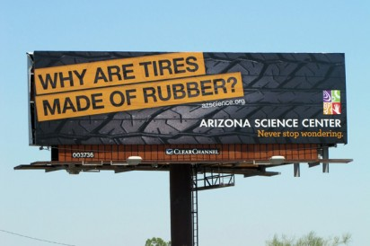 tires rubber billboard