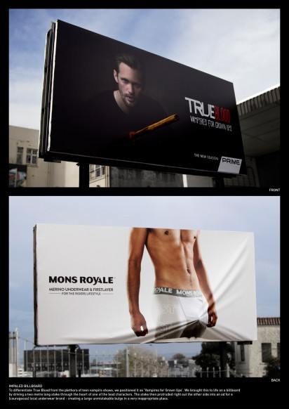 true blood impaled billboard