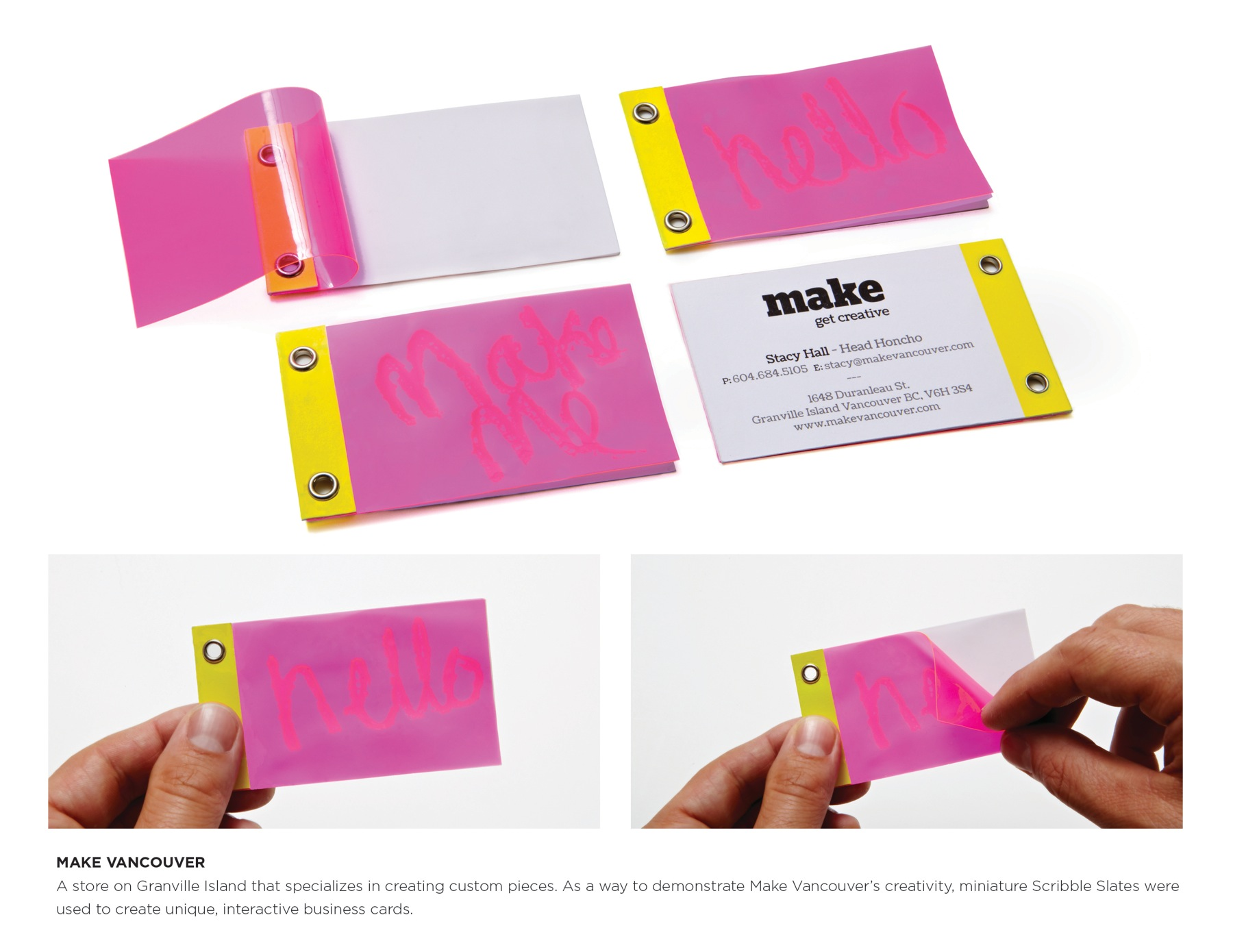 make vancouver business cards with magic slate
